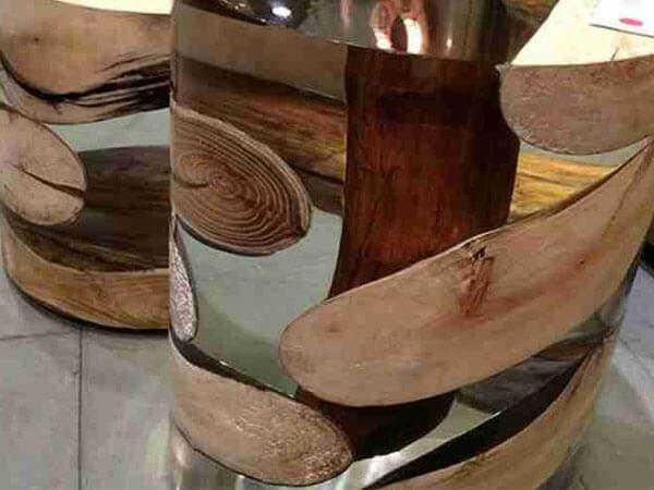 استفاده از چوب و رزین