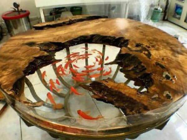 ساخت میز چوبی با رزین