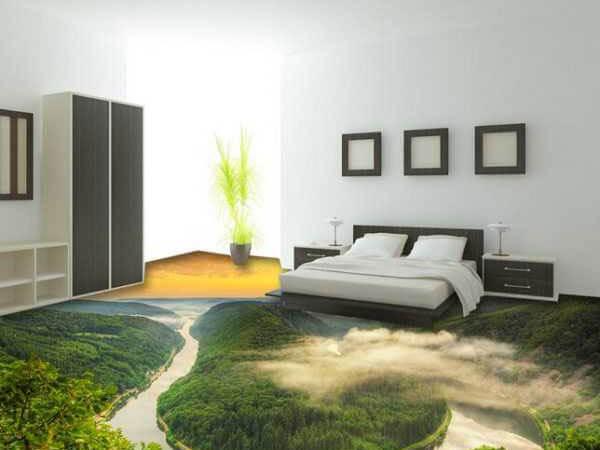 کف پوش سه بعدی برای اتاق خواب