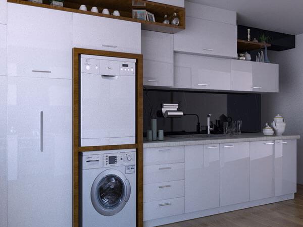 دکور آشپزخانه و مخفی کردن وسایل