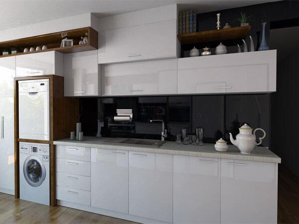طراحی کمد آشپزخانه تا سقف