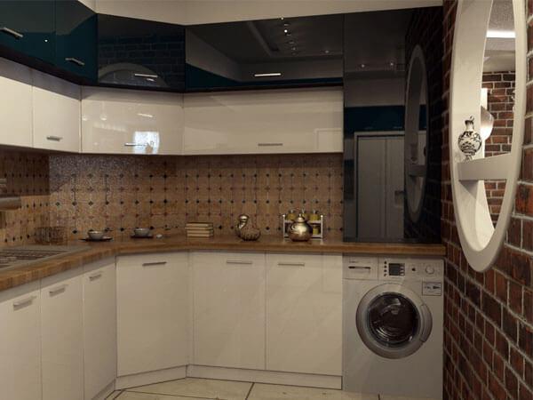 دکور آشپزخانه با رنگ سفید