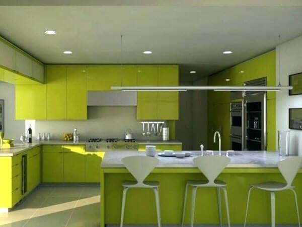 دکوراسیون آشپزخانه با رنگ سبز