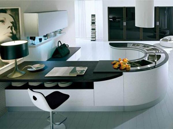 میز آشپزخانه جزیره ایی بیضی