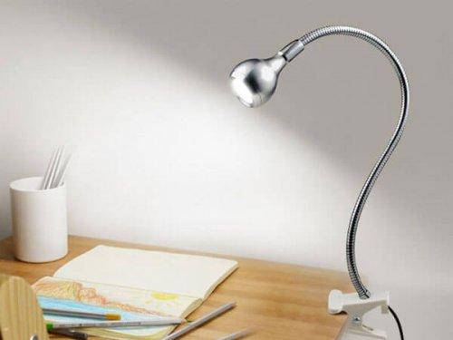 چراغ با گیره قابل نصب بر روی میز