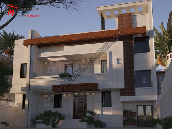 نمای ساختمان شیک و زیبا به سبک مدرن