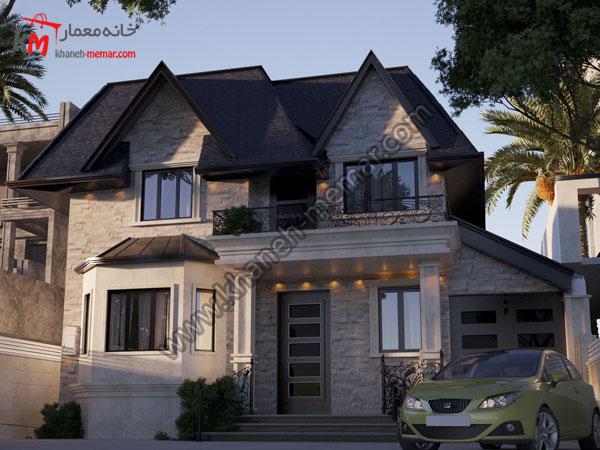 استفاده از سقف شیروانی در طراحی نما به سبک مدرن