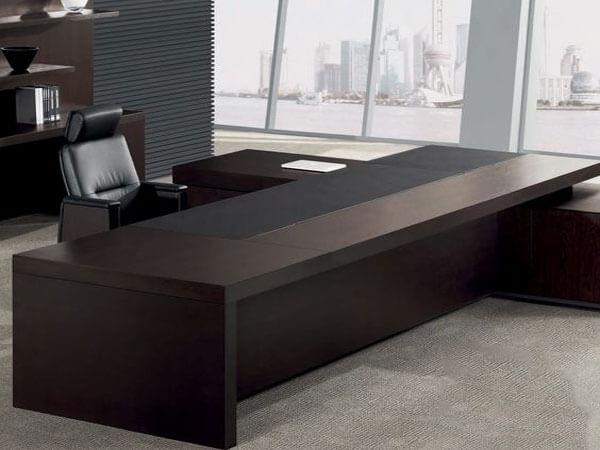 میز مدیریت قهوه ایی تیره
