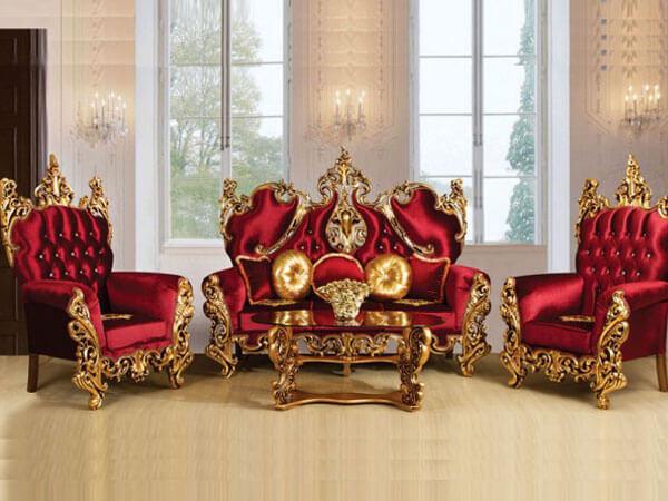 مبل سلطنتی با رنگ قرمز مبل استیل مناسب برای چه محیطی است؟