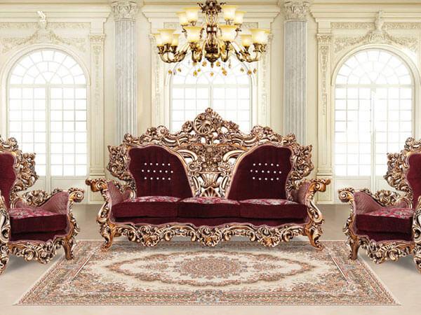 مبل استیل زیبا و لاکچری تفاوت مبل سلطنتی و مبل کلاسیک
