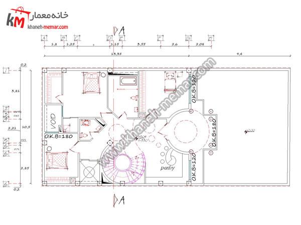 نقشه ساختمان سه طبقه