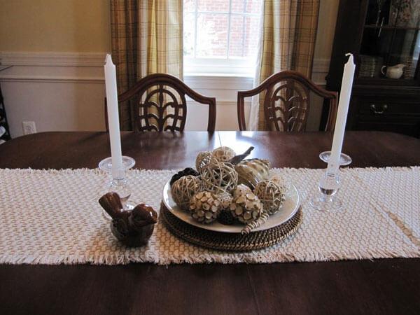 تزیین میز ناهارخوری