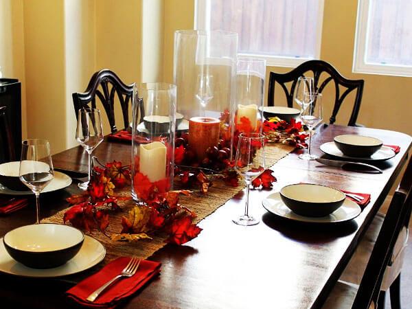 تزیین میز مستطیلی