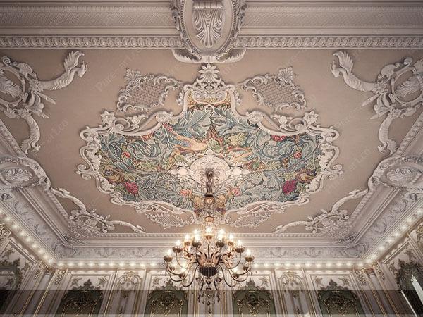 طراحی سقف در دکور داخلی به سبک اروپایی
