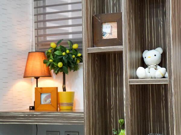 استفاده از فرورفتگی ها در دیوار اتاق 1)اضافه کردن بافت به دیوار