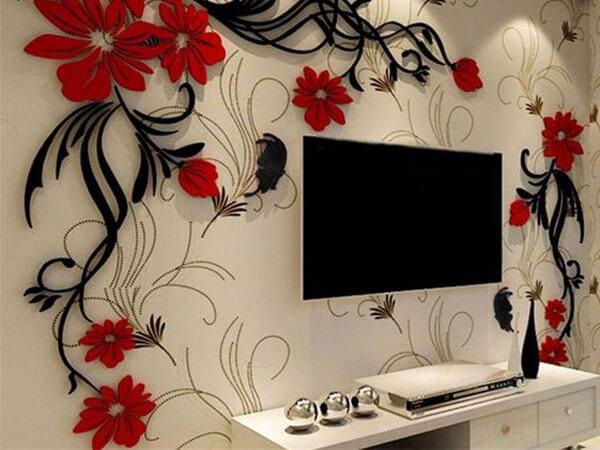 کاغذ دیواری پشت میز تی وی اصول اساسی در طراحی دیوار