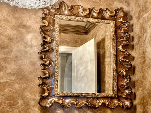 کهنه کردن آینه برای دکوراسیون
