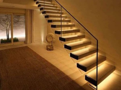 نورپردازی راه پله ها نورپردازی پله دوبلکس شیک و مدرن و زیبا