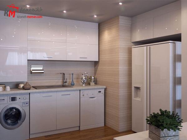کابینت آشپزخانه با رنگ روشن