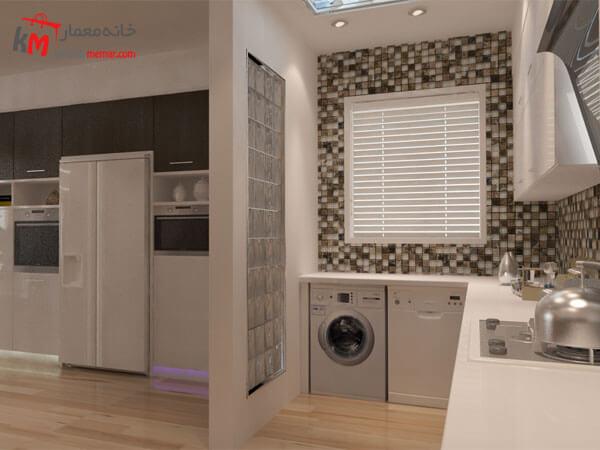 طراحی آشپزخانه گرم در همجواری آشپزخانه سرد