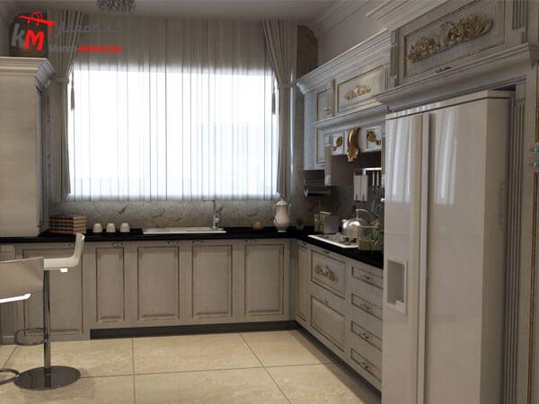 چیدمان دکوراسیون آشپزخانهای مدرنه تمیز