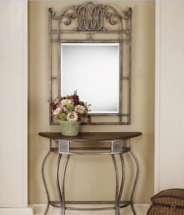 آینه مستطیلی به همراه میز