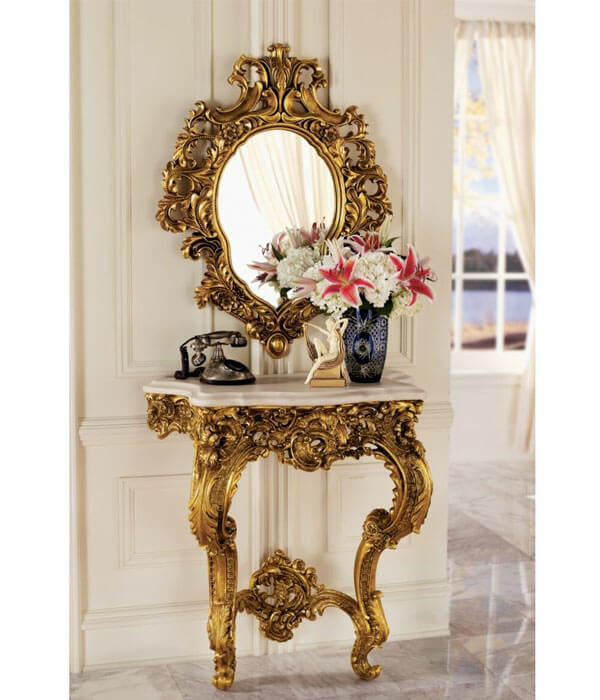 آینه و کنسول سبک کلاسیک