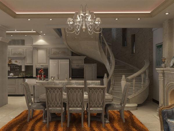 انواع پله ساختمان دوبلکس