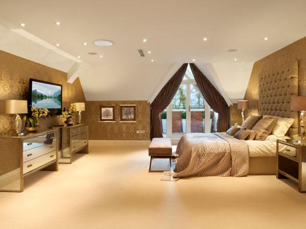 نورپردازی از طریق سقف اتاق خواب
