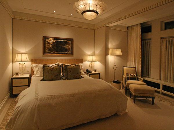 نورپردازی برای شب در اتاق خواب مستر