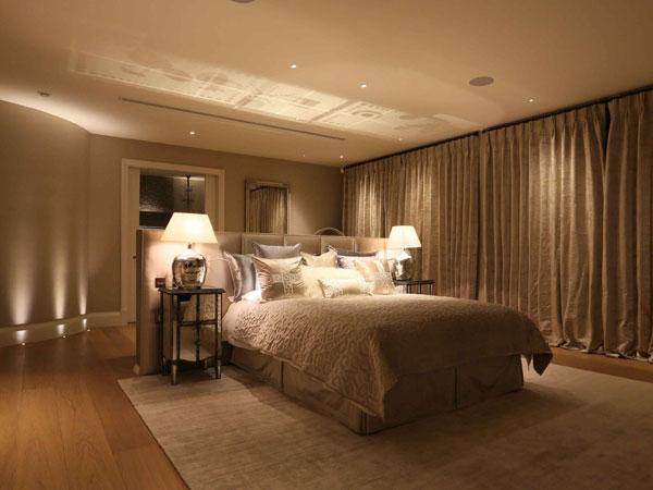 نورپردازی برای شب در اتاق خواب