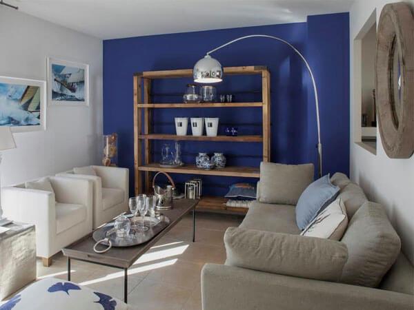 دکور آبی و استفاده از رنگ در دیوارها دکور آبی برای فضاهای کوچک