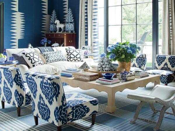 ترکیب رنگ آبی و سفید در دکوراسیون دکوراسیون آبی و قهوه ایی