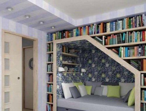 قفسه کتاب شیک و کاربردی با طرح های خلاقانه