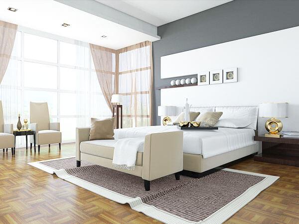 تخت خواب زیبا و شیک سفید رنگ