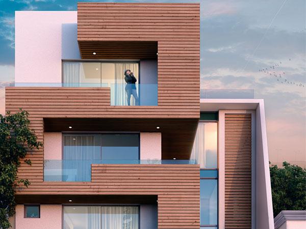 نمای ساختمان مدرن نمای ترموود و تاثیر آن بر سلامتی روانی