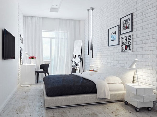 دکوراسیون اتاق خواب با ترکیب مشکی