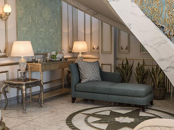 ترکیب سفید و سبز در دکور منزل
