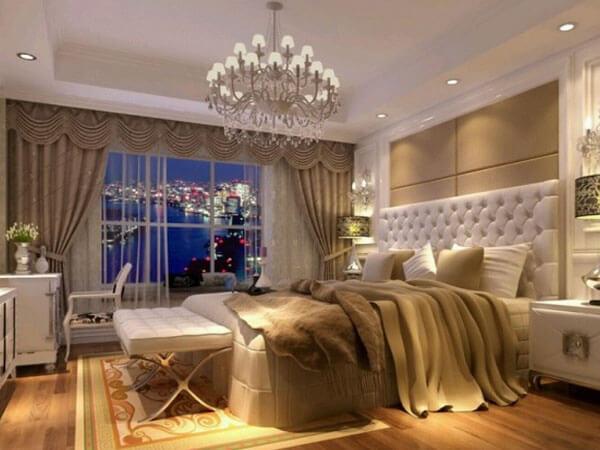اتاق خواب با ترکیب سفید
