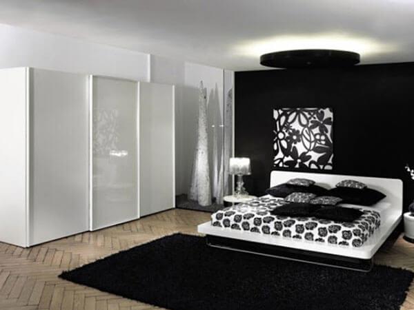 ترکیب رنگ سفید و سیاه در دکور