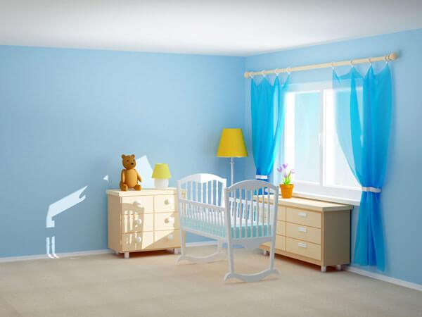 پرده اتاق کودک زیبا و خوش رنگ