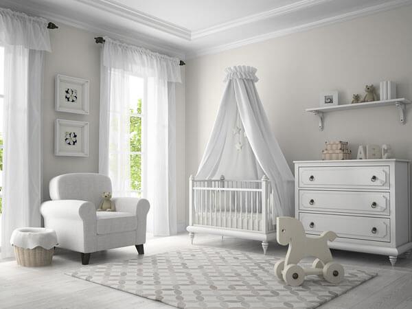 استفاده از رنگهای آرامش بخش برای پرده و دکور اتاق خواب کودک
