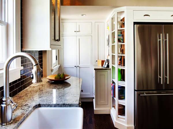 استفاده کامل از فضای آشپزخانه کوچک