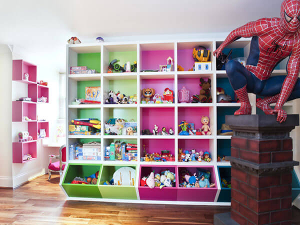 قفسه بندی اتاق بازی برای اسباب بازی استفاده از قفسه