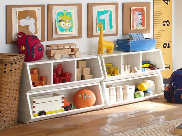 قفسه های اسباب بازی استفاده از قفسه