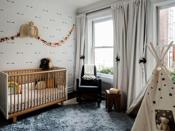 تزیین اتاق کودک با کاغذ رنگی تزئین دیوار