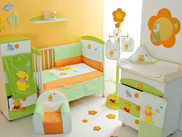 تزیین اتاق نوزاد دختر تزئین دیوار با رنگ های مناسب روحیات دختران