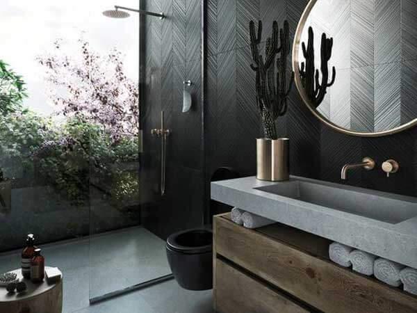 مدل حمامهای جدید نصب جالباسی و جا حولهبا ترکیب رنگ های زیبا به سبک مدرن