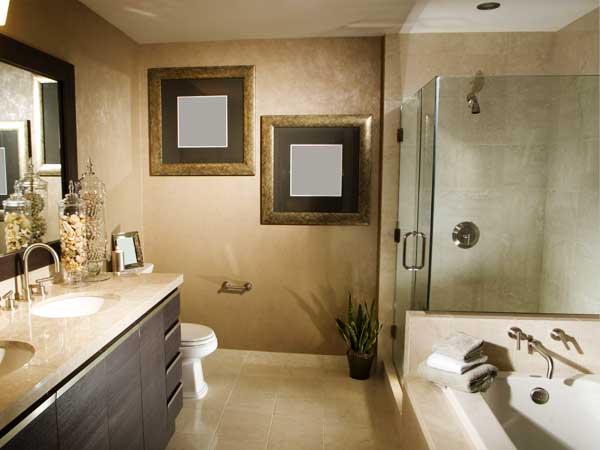 مدل حمامهای جدید نصب جالباسی و جا حوله سبک مدرن