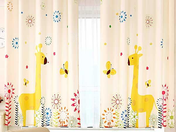پرده اتاق کودک استفاده از رنگ های آرامش بخش برای دلبندان عزیزتان